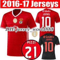 benfica soccer shirts - Top Thai quality NEW SL Benfica Home red Soccer Jersey RAUL MITROGLOU PIZZI Sport maillot de foot away Black football shirts