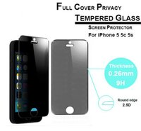 Cheap Privacy Tempered Glass For iPhone 6 6s plus 5 se Screen Protector Anti-Spy Film Screen for Samsung s7 S6  S5  Note 3 4