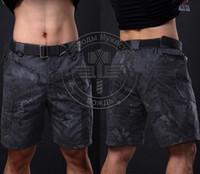 Wholesale NewTactical Shorts Mens Summer Camo Short Pants Knee Length Shorts Outdoor Fashion Hunting Clothing Airsoft Shooting Paintball Pants