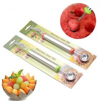 Wholesale Stainless Steel in Melon Baller Fruit Carving Knife Double Side Melon Scoop Vegetable Carving Tool