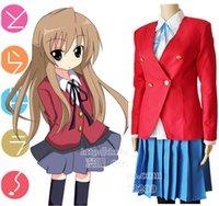 aisaka taiga cosplay - Anime Toradora TIGER DRAGON School Uniform Cosplay Costume Aisaka Taiga Full Set Dress Jacket Skirt Bow tie