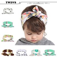 best bow cases - TWDVS Best Case Beautiful Baby Rabbit Ear Headband Girl Hair Bow Knot Hair Bands Headwear Kids Elastic Hair Accessories KT053
