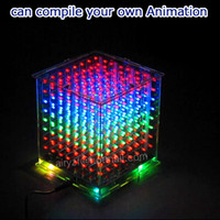 Wholesale In stock DIY D S LED mini multicolor light cube With excellent animation D CUBE x8x8 Kits Junior D LED Display Gift for Ardino