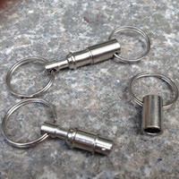 alloy detachable - Convenient Detachable Removable Keychain Pull Apart Quick Release Key Chain Key Rings with Two Split Rings