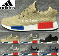 Cheap Original Adidas NMD Runner Yeezy 350 Running Shoes For Women Men Yeezys Sneakers Originals Cheap Gold Black Size 36-45 Free Shipping