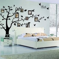Wholesale New arrive home decor family tree wall stickers DIY wall stickers photo art wall sticker for room