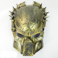 animations textures - Predator Mask Cos Show Animation Mask Dance Reality CSCF Masquerade Party Cosplay Metal Texture Rivet Mask