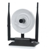 al por mayor antenas de alta ganancia wifi usb-Adaptador LIBRE 360000N Ralink 3070 WEP WPA del wifi del USB del diamante negro WPA 3800mW 36dBi 150Mbps 3 antena del alto aumento
