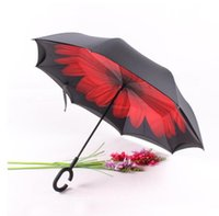 Wholesale Well Selling Double Layer Car Kazbrella Upside Down Umbrella reversible reverse umbrella