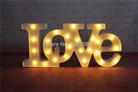 Wholesale quot LOVE quot RED LED Marquee Sign LIGHT UP Vintage Adhesive letter love shape Plastic light valentine s Day Indoor