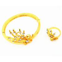 Wholesale New product high quality imitation gold plated tin alloy fashion style Huadiao bracelets or rings for female