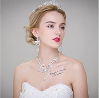 articles wedding dress - Necklace earrings crown three suits the bride adorn article Korean wedding dress accessories hair accessories
