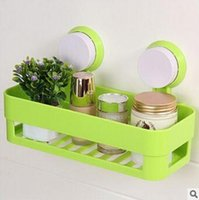 Wholesale Bathroom shelf creative home furnishing bathroom shelves wall mounted type storage rack kitchen commodity shelf with strong suction