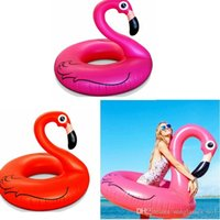 Wholesale Giant Inflatable Flamingo Animal Water Swimming Float Raft Air Mattress For Adult Kid Swim Ring Summer Holiday Inflatable Pool Toy PPA256
