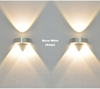 Wholesale Indoor W LED Wall Lamp AC110V V bedroom Decorate sconce Cold White Warm White Yellow Light