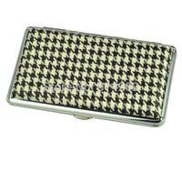Cheap Wholesale-Free Shipping 1pc New Stylish Elegant Pocket Leather Slim Cigarette Case Box Hold For 14 100mm Cigarettes