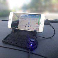 Wholesale Universal Car Phone Holder GPS Navigation Holder With Charger USB Cable For iOS Android Adjustable Bracket Magnet Connector