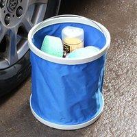 Wholesale 1 pc Folding Bucket Car Wash Bucket Outdoor Portable Fishing Buckets Washing Retractable Vehicle Clean Canvas Supplies L Bucket