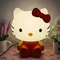 Wholesale Hello kitty lamp plastic lovely sweety high quality suitable for student give the girl as a present