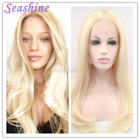 Wholesale Long T6138 Green Heavy Density Heat Friendly Fiber Front Lace Synthetic Hair Party Wig