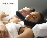 Wholesale Anti snoring stop snore chin strap good sleeping support free household products high quality sleeping tool
