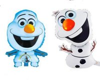 Wholesale Frozen Olaf balloons ballons halloween party Foil Helium Balloon Birthday Party Wedding Decoration Supplies Kids children Toys MOQ