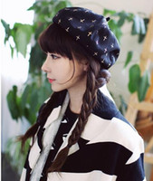 Wholesale 2016 new hat female summer fashion lace winter octagonal cap beret women s autumn hat Free Shpping
