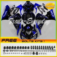 bacardi blue - Injection Mold Fairing Kit With Rear Seat Cover Tank Cover Fits CBR1000 CBR Bacardi Blue Black Y43