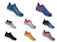 Wholesale 2016 Original Quality Mens Football Boots ACE X Purechaos FG Cheap High Ankle Outdoor Techfit NSG X Purechaos Soccer Boots Shoes