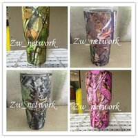 Wholesale DHL Camo YETI Cups oz Coolers Stainless Steel Rambler Tumblers Double Walled Vacuum Insulated Colors Cheapest with Logo