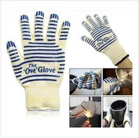 Wholesale 500 BBA4067 Ove Glove Microwave oven Glove Heat Resistant Cooking glove Heat Proof Oven Mitt Glove Hot Surface Handler BBQ party baking Tool