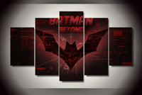 batman logo pictures - 5Pcs With Framed Printed batman beyond logo Painting on canvas room decoration print poster picture canvas hand painted art
