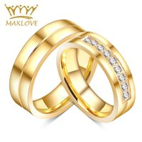 affordable silver jewelry - Affordable Engagement Rings For Love K Gold Plated CZ rings Diamond Zirconia Stainless Steel Ring For Wedding Jewelry
