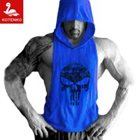Wholesale New Mens Sleeveless Hoodie T Shirt Hooded Tank Top Cotton Hoodies Tee Shirt Vest Men Sweatshirts Gym Fitness Gasp Sport Stringer