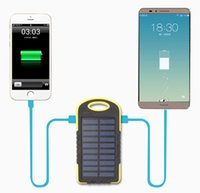 Wholesale 8000mah Solar power bank Charger Battery mAh Solar Panel Dual Charging Ports portable power bank for All Cell Phone table PC MP3