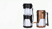 aa battery lantern - Flexible solar AA battery camping light outdoor illumination emergency hand lamp wild bright LED torch lantern
