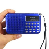 Wholesale Mini Portable dual band Rechargeable Digital LED display panel Stereo FM Radio Speaker USB TF mirco for SD Card MP3 Music Player