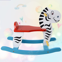 Wholesale Wooden Rocking Horse Animal Kid Chair Children Baby Vintage Rocker Toy Infants Baby Kids Developmental Toy Bithrday Gift New Hot sale