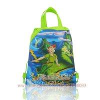 backpacks favor bag - 12pcs Peter Pan Cartoon Bags Child Drawstring Backpack Bags cartoon drawstring backpack Kids Party Favor boy and girl all love
