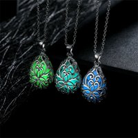 Wholesale 10PCS Sterling Silver Plated Fashion women fluorescent Pendants Necklace GN007