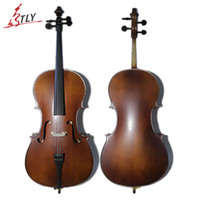 Wholesale TONGLING Professional Violoncello Antique Matte Natural Flamed Acoustic Cellos Musical Instrument