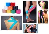 venda por atacado elastic tape-Atacado rolo de 5m x 5cm Músculos Cinesiologia Esportes Cuidados Elastic Physio Therapeutic Tape H210281