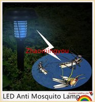 Wholesale YON UV LED Anti Mosquito Lamp Solar Powered Outdoor Garden Lawn Light Anti Mosquito Insect Pest Bug Zapper Killer Trapping Lamp