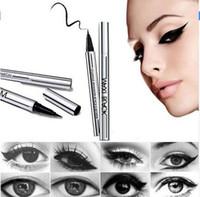 Wholesale Waterproof Eyeliner Shadow Gel Makeup Cosmetic Mistine MAXI Black Eyeliner easy makeup matte color eyeliner pencil