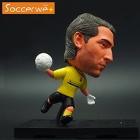 Wholesale 6 cm Soccer Star Doll JUV buffon Mini Figure action Office Doll yellow