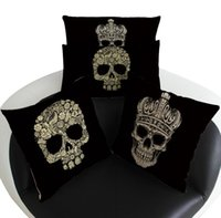 Cheap 2016 new bedding pillow case pillowcases home fashion skull cushion   pillow   lumbar pillow TOP1385