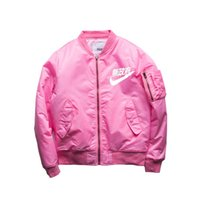 air force m - 2016 Spring Hip Hop Street Kanye West Yeezus Ma1 Pink Bomber Jacket Homme Season Air Force One Fbi Jacket Men