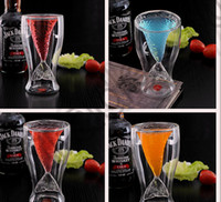 beer glassware - LJJK291 Newest Mermaid Glass Cup Double Glass Wall Beer Wine Whisky Mug Glassware Creative Party Bar Drink Double Beer Mug Glassware