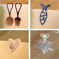 Wholesale Cute Lovely Metal Gold Silver Snowflake Bookmark Paper Clip for book Creative Gift Korea Stationery