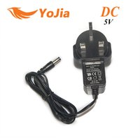 Wholesale UK pin plug Adapter V A Converter Charger Power Supply with DC x2 mm for Android TV Box Tablet Multimedia Player order lt no track
